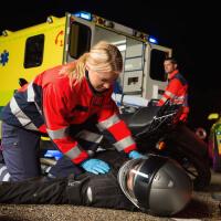 munkahelyi baleset mentő